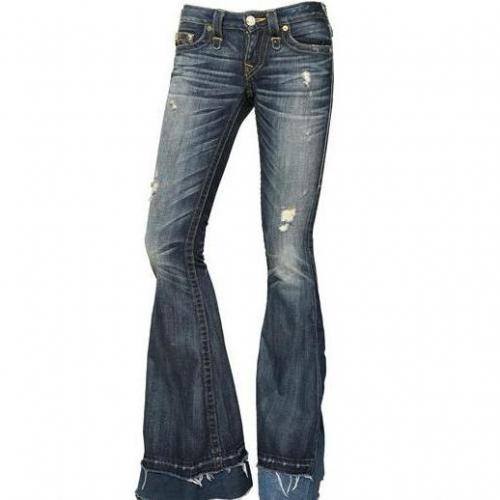 True Religion - Patchwork Stretch Denim Carrie Jeans