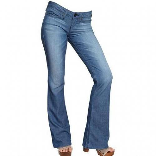 True Religion - Stretch Denim Ausgestelltes Bein Bobby Jeans