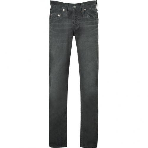True Religion Vintage Black Geo Slim Dusty Ridge Pants