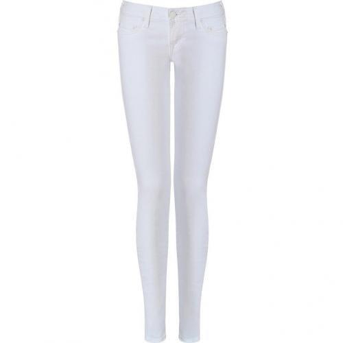True Religion White Alex Phantom Skinny Jeans