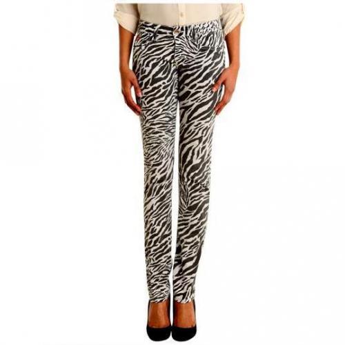 Unlimited - Hüftjeans Modell Capsule Woman Zebra Bianco Farbe Bunt