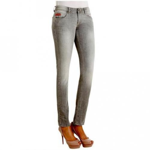 Unlimited - Hüftjeans Modell Denim Woman Light Black Farbe Grau