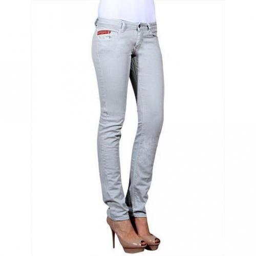 Unlimited - Hüftjeans Modell Woman Regular Perla Farbe Grau