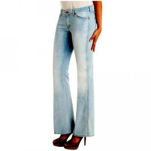 Wrangler - Schlaghose Modell Cary Vintage Creased Farbe Blau