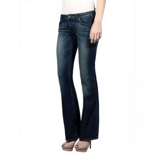 Wrangler - Schlaghose Modell Laney River Washed Farbe Blaue Waschung