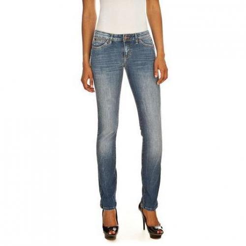 Wrangler - Skinny Modell Molly Princeton Fade Farbe Blaue Waschung