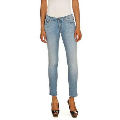 Wrangler - Slim Modell HAILEY BLUE TRACE Farbe Helle Waschung