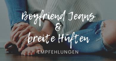 Boyfriend Jeans bei breiten Hüften