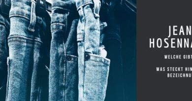 Jeans Hosennamen