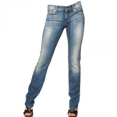 7 For All Mankind - Denim Stretch Straight Leg Jeans