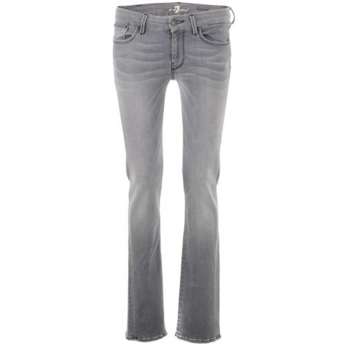 7 for all mankind Grey Straight Leg Jeans Kimmie