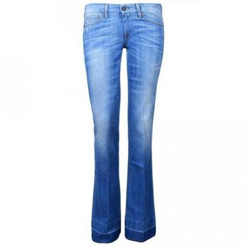 7 For All Mankind - Schlaghose Modell Jiselle Polly Cay Farbe Blaue Waschung