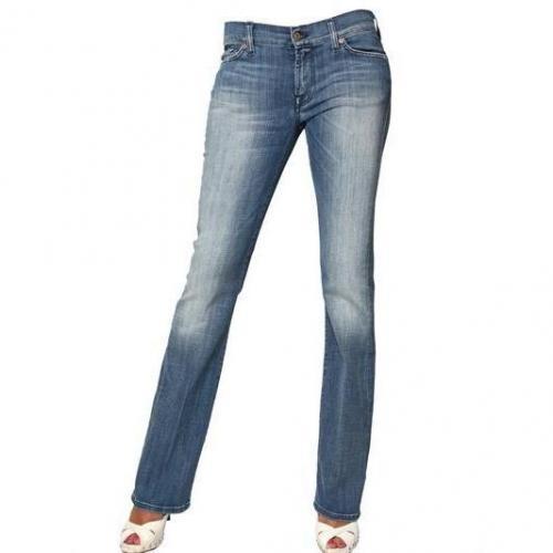7 For All Mankind - Skinny Boot Cut Denim Stretch Jeans