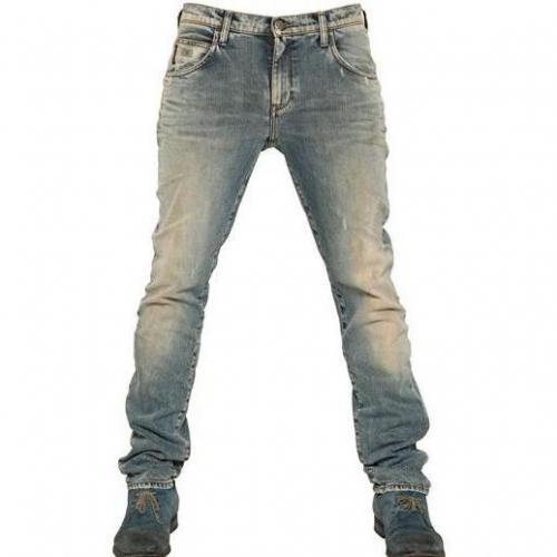 Armani Jeans - 18,5Cm Vintage Verwaschene Enge Jeans