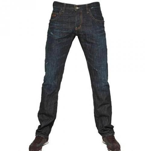 Armani Jeans - 19,5Cm Vintage Wash Tight Leg Jeans