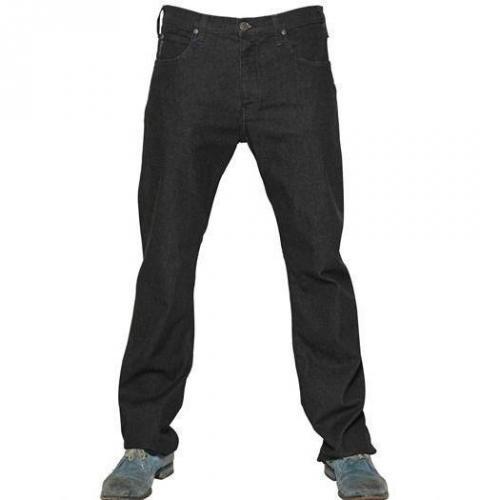 Armani Jeans - 20Cm Denim Stretch Gerades Bein Jeans Black