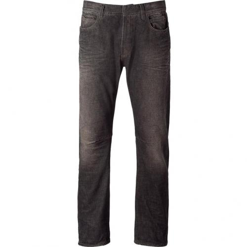 Balmain Grey Washed Slim Denim Pants