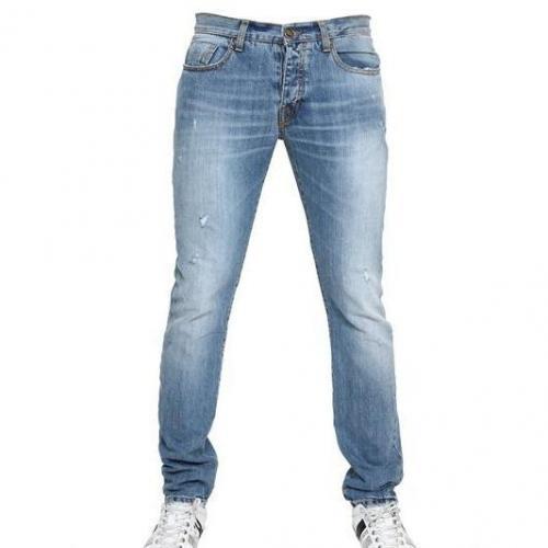 bikkembergs 18cm distressed denim jeans. Black Bedroom Furniture Sets. Home Design Ideas