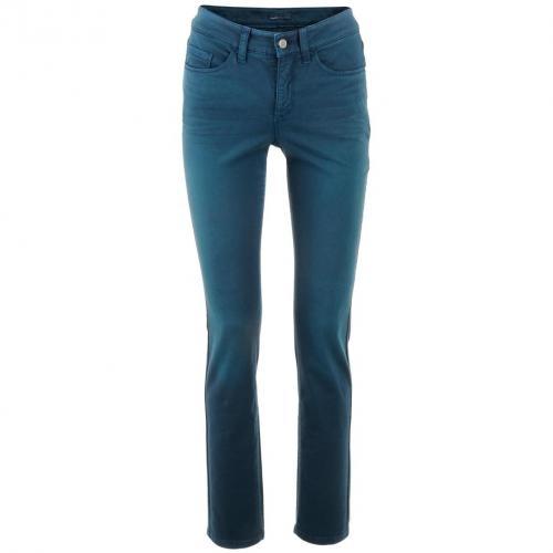 Cambio Petrol Straight Leg Jeans Parla