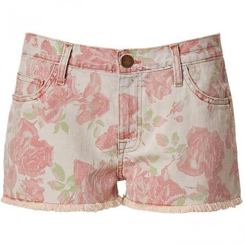 Current Elliott Red Rose Print Boyfriend Short