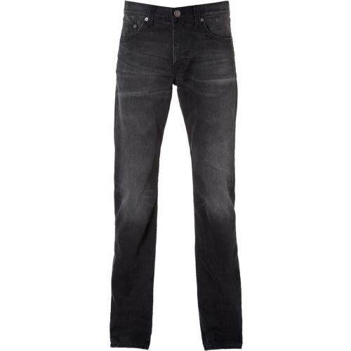 Current Elliott The Slim Straight Dark Grey Jeans