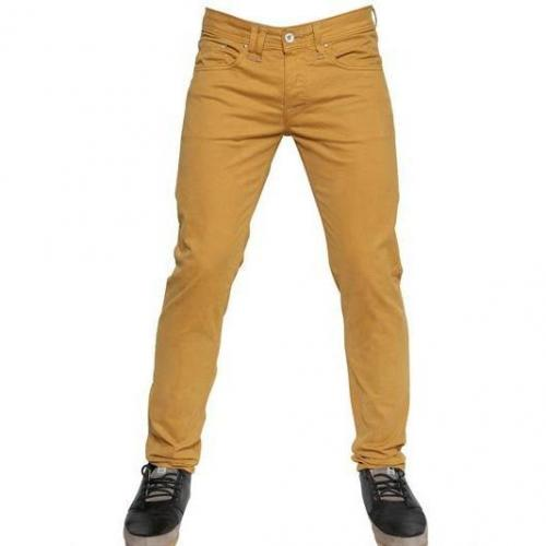 Cycle - 17,5 Cm Gabardine Denim Skinny Jeans