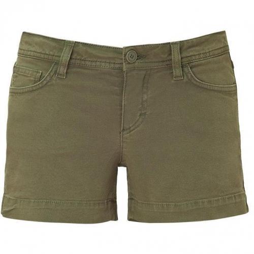 D&G Dolce & Gabbana Olive Denim Shorts