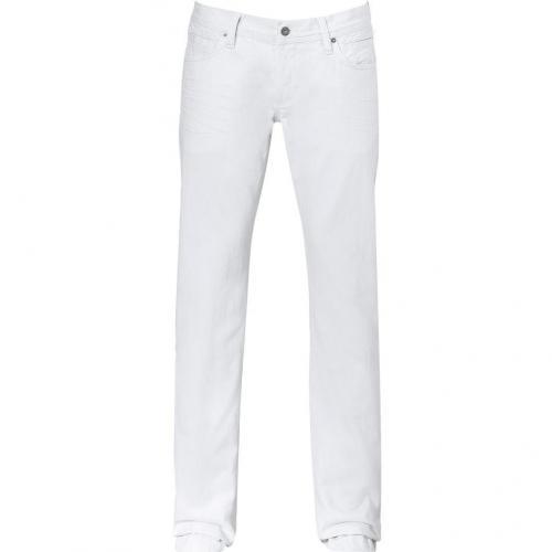 D&G Dolce & Gabbana White Five Pocket Jeans