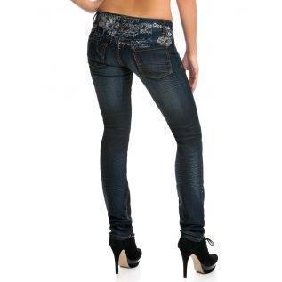 Desigual Damen Jeans Mercurio