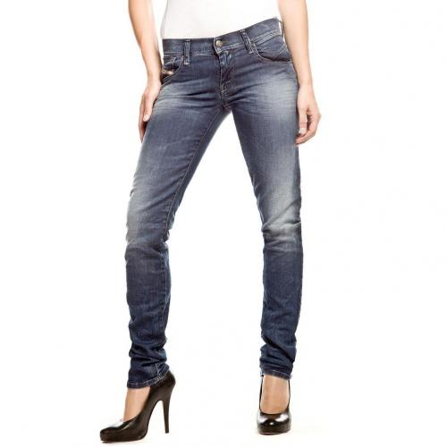 Diesel Getlegg Jeans Slim Fit Stone Used