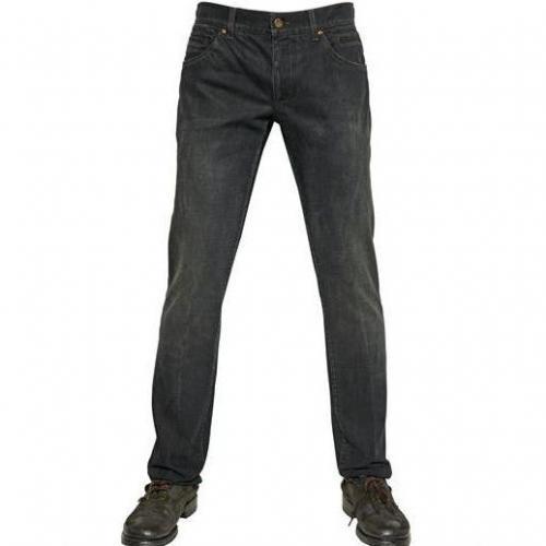 Dolce & Gabbana - 19Cm Washed Denim 14 Gold Jeans Dark