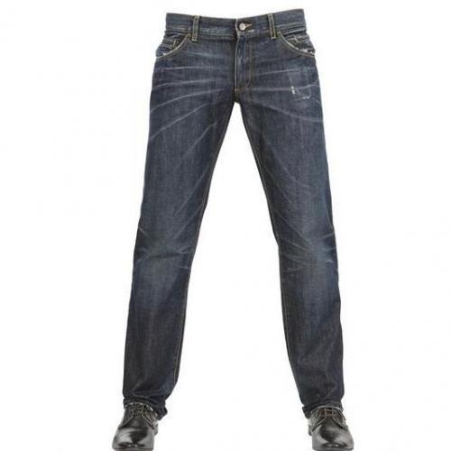 Dolce & Gabbana - 21Cm Zerknitterter Effekt 14 Classic Jeans