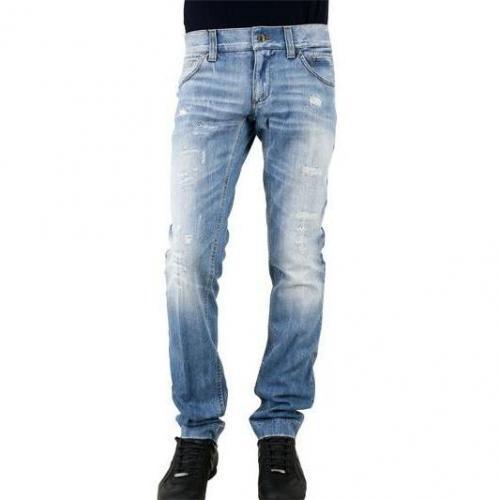 Dolce & Gabbana - Jeans Beschäigt Logoplakette