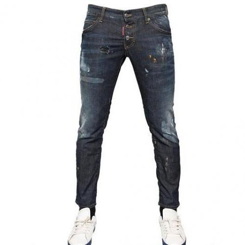 Dsquared - 16.5Cm Stretch Denim Clement Fit Jeans