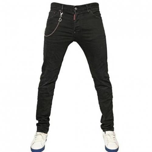 dsquared 16cm cool guy kette stretch denim jeans. Black Bedroom Furniture Sets. Home Design Ideas