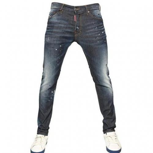 Dsquared - 16Cm Cool Guy Stretch Denim Jeans Used Look