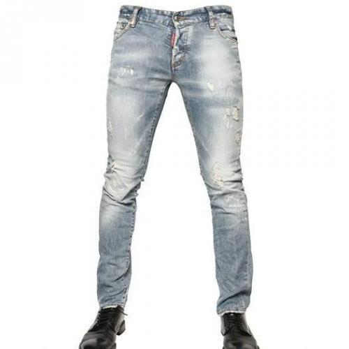 Dsquared - 19Cm Denim Slim Fit Jeans Hellblau