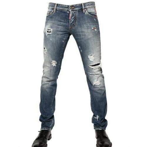 Dsquared - 19Cm Destroyed Denim Slim Fit Jeans