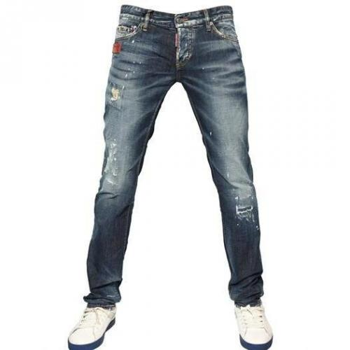 Dsquared - 19Cm Ocra Rip Slim Fit Denim Jeans