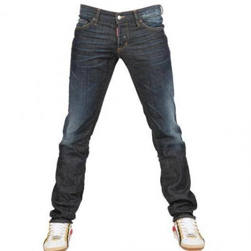 Dsquared - 19Cm Slim Fit Denim Jeans Dunkelblau Washed