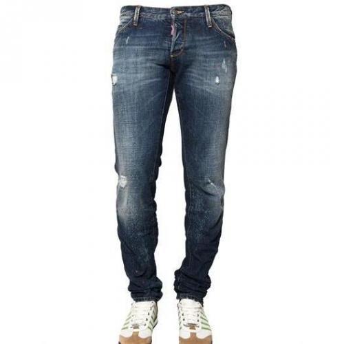 Dsquared - 19Cm Slim Fit Paint Spots Denim Jeans