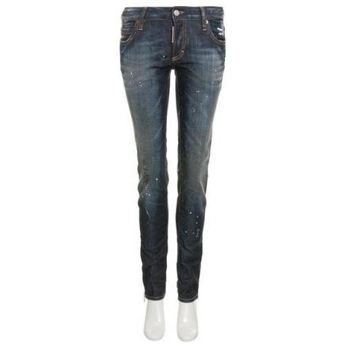 Dsquared Jeans Super Slim Jean blue Painted White