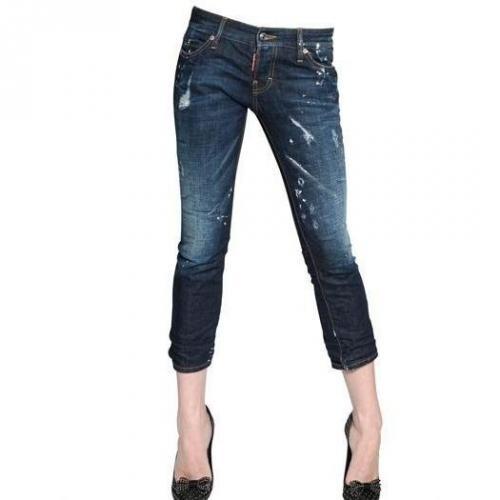 Dsquared - Minimiller Gekürzte Baumwoll Denim Jeans