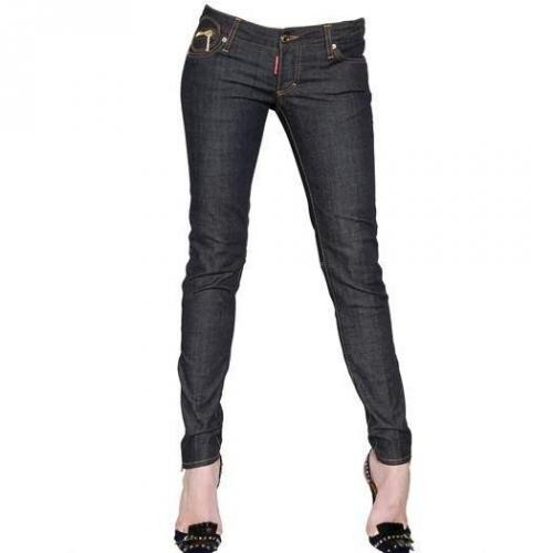 Dsquared - Super Slim Unwashed Baumwoll Denim Jeans