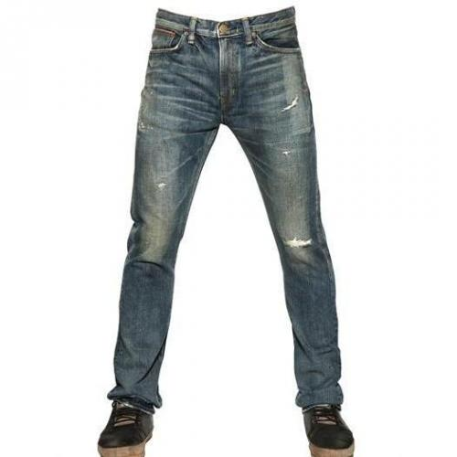 Edwin - 18Cm Slim Fit Destroyed Selvage Jeans
