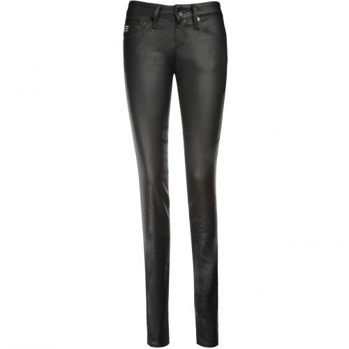 G-Star Midge Skinny Jeans Slim Fit Schwarz