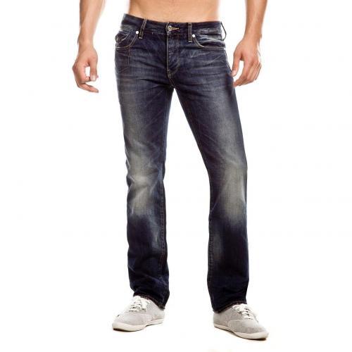 G-Star Morris Low Jeans Straight Fit Dark Used Überlänge 38