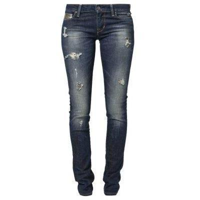 Guess STARLET SKINNY Jeans dark destroyed silver
