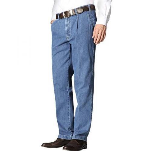 Hiltl Jeans mit Bundfalte blau 73790/Hoss/45
