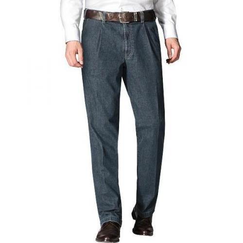 Hiltl Jeans mit Bundfalte dunkelblau 73790/Hoss/40